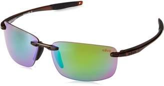 Revo Descend N RE 4059 02 GN Polarized Rectangular Sunglasses