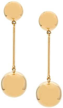 J.W.Anderson gold small Sphere drop earrings