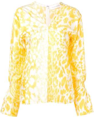 Victoria Beckham leopard print blouse