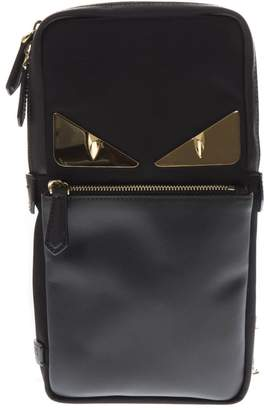 Fendi Bag Bugs Black Leather Belt Bag
