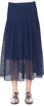 Akris Punto 3-D Punto Lace Midi Skirt