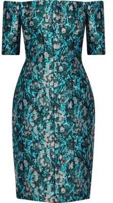 J. Mendel J.mendel Off-The-Shoulder Metallic Jacquard Dress