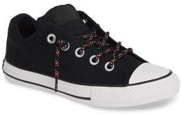 Converse R) Graphite Puffer Stitch Low Top Sneaker