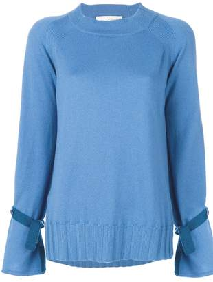 Antonia Zander cashmere ruffle trim sweater