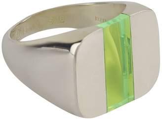 Split Silver Signet Ring