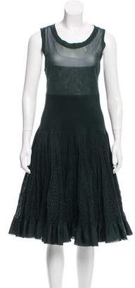 Alaia Fit and Flare Midi Dress
