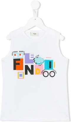 Fendi logo print tank top