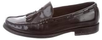 Saint Laurent Leather Tassel Loafers