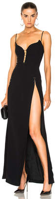 Thierry Mugler Crepe High Slit Gown