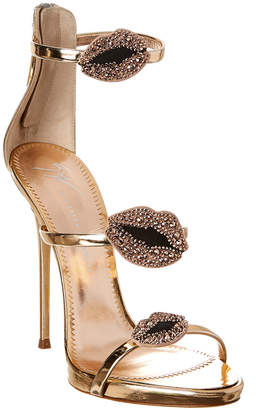 Giuseppe Zanotti Harmony Lips Leather Sandal