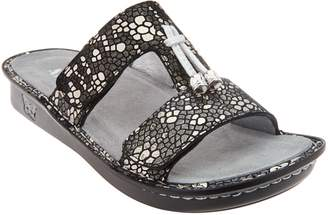 Alegria Leather Slide Sandals with Tassle - Penny