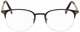 Tom Ford Black Metal Soft Square Glasses
