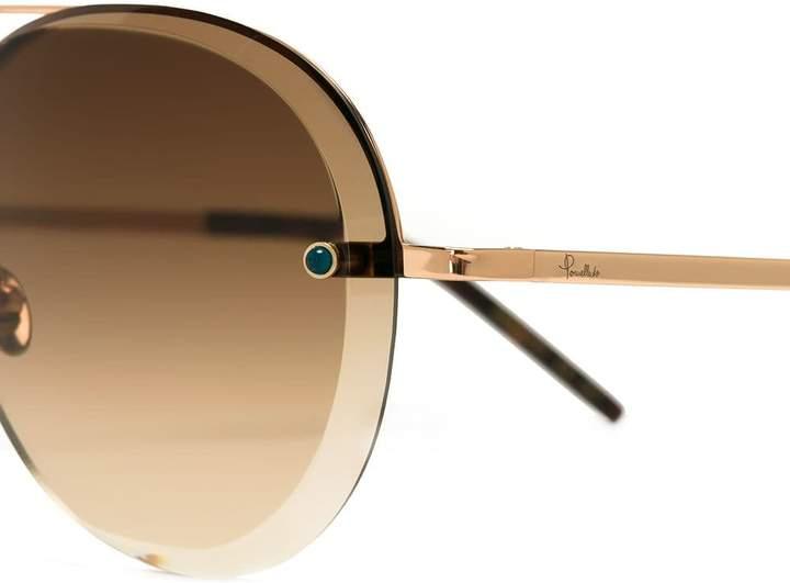 Pomellato oversized aviator sunglasses
