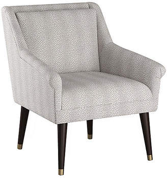 One Kings Lane Carson Accent Chair - Pewter Dots