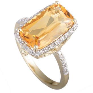 Generic Gemstones 14K 0.14 Ct. Tw. Diamond & Citrine Ring