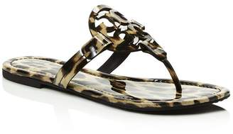 Tory Burch Women's Miller Leopard Print Thong Sandals