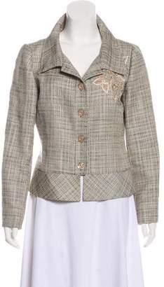 Valentino Tweed Embellished Jacket