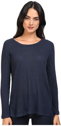 Splendid Waffle Loose Knit Pullover Women's Clothing