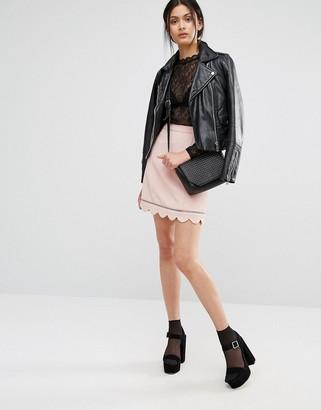 Oasis Scallop Hem Skirt $58 thestylecure.com