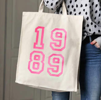 Modo creative 1989 30th Birthday Pink Neon Canvas Bag
