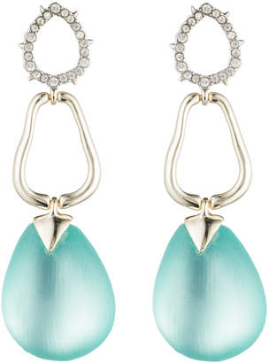 Alexis Bittar Crystal Encrusted Organic Post Earring