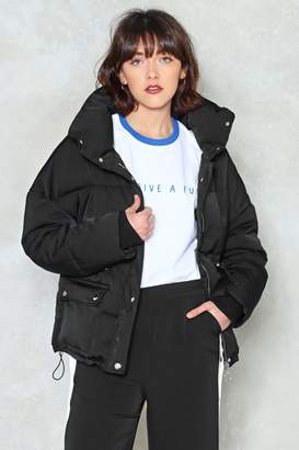 Nasty Gal The Answer to Your Layers Padded Jacket