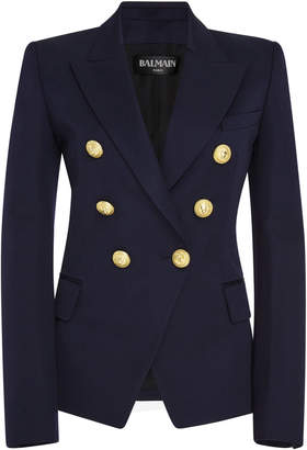 Balmain Tailored Double-Breasted Wool Blazer