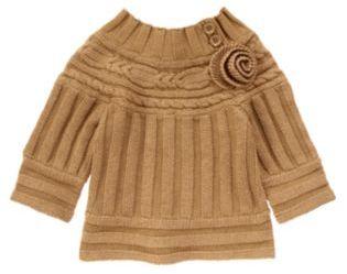 Crazy 8 Rosette Sparkle Cable Sweater