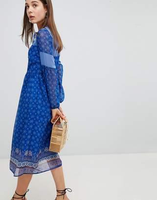 New Look Border Print Midi Dress