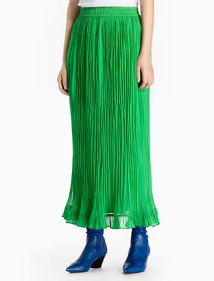Calvin Klein crinkle long skirt