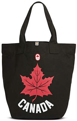 CANADIAN OLYMPIC TEAM COLLECTION Maple Leaf Canvas Tote Bag