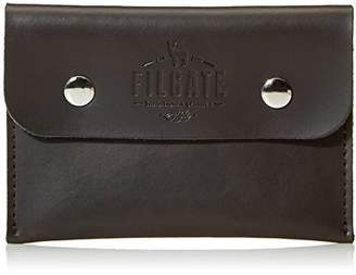 Filgate Superb Quality Genuine Leather Wallet Flap Envelope Pattern Wallet with Snap Closure Brown