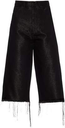 Marques Almeida MARQUES'ALMEIDA Frayed-edge wide-leg cropped jeans