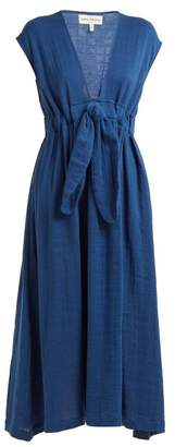 Mara Hoffman Katinka Tie Waist Cotton Dress - Womens - Blue