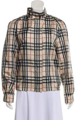 Burberry Nova Check Windbreaker Jacket
