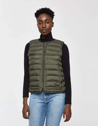 Herschel Featherless Vest in Dark Olive