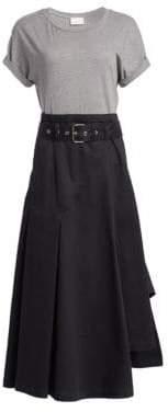 3.1 Phillip Lim Women's Short Sleeve Jersey Tee Dress - Phantom Blue - Size 6