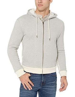 Billy Reid Men's Full Zip Panelled Fleece Hoodie