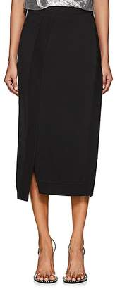 Paco Rabanne Women's Rib-Knit-Inset Stretch-Jersey Pencil Skirt
