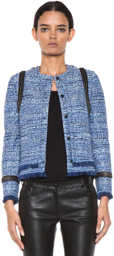 Joseph Gerry Jacket in Summer Tweed Blue