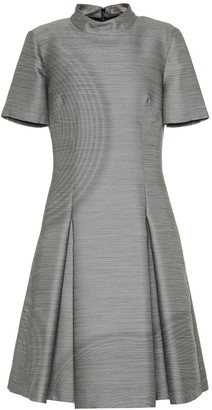 Bottega Veneta Wool and silk fil-a-fil dress