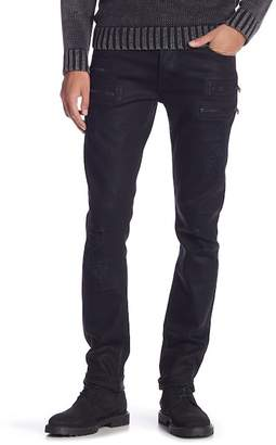 Hudson Jeans Broderick Front Zip Slouch Skinny Jeans
