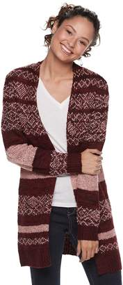 It's Our Time Its Our Time Juniors' Jacquard Boyfriend Cardigan