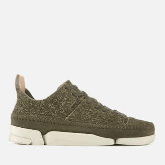 Clarks Women's Trigenic Flex Suede Trainers - Olive