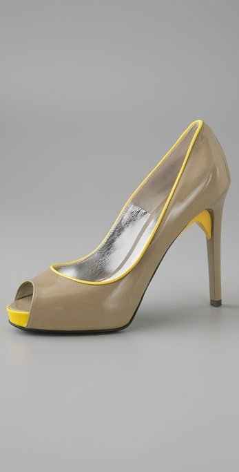 Ruthie Davis Patio Peep Toe Hidden Platform Pump
