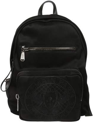Balmain Logo Zipped Backpack