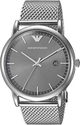 Emporio Armani Men's 'Dress' Quartz Stainless Steel Casual Watch, Color:-Toned (Model: AR11069)