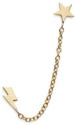Zoë Chicco 14K Yellow Gold Itty Bitty Star & Lightning Bolt Double Piercing Earring