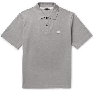 Acne Studios Elton Melange Cotton-Pique Polo Shirt - Men - Gray