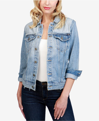 Lucky Brand Cotton Denim Trucker Jacket $129 thestylecure.com
